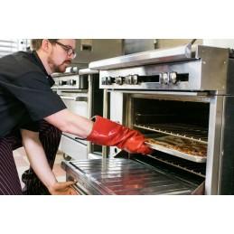 Gant de protection chaleur et vapeur EZ-KLEEN utilisation pour retirer des plats du four