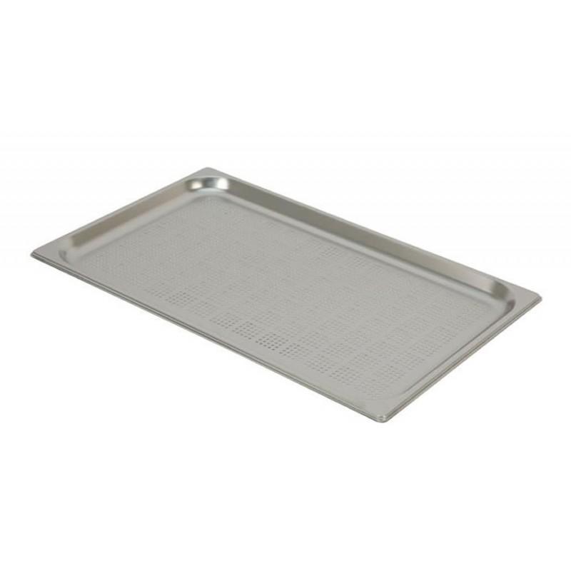 Bac inox GN 1/1 standard perforés RONDA hauteur 20 mm