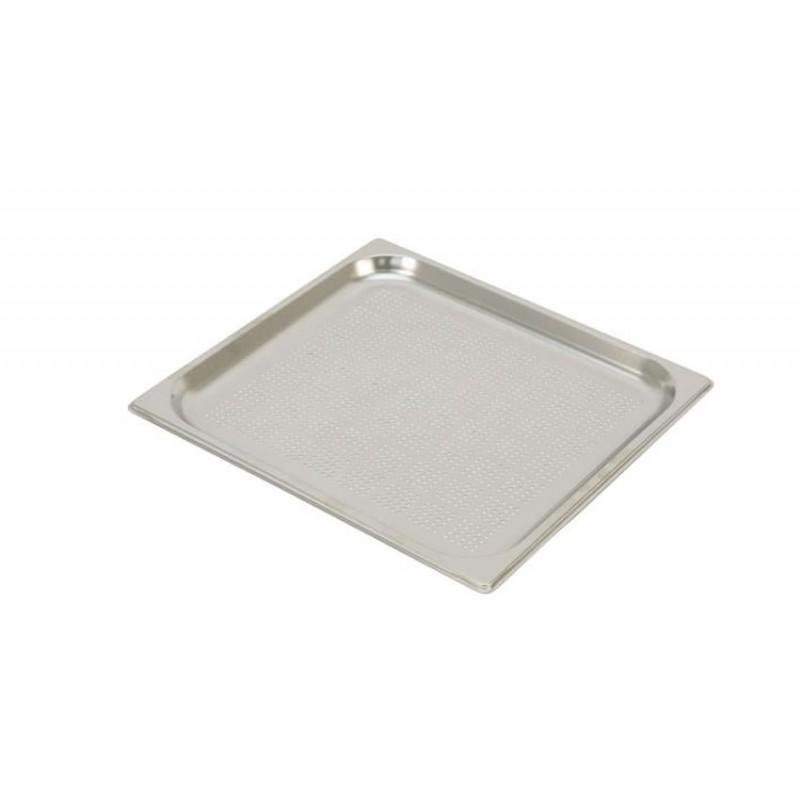 Bac inox GN 2/3 standard perforés RONDA hauteur 20 mm