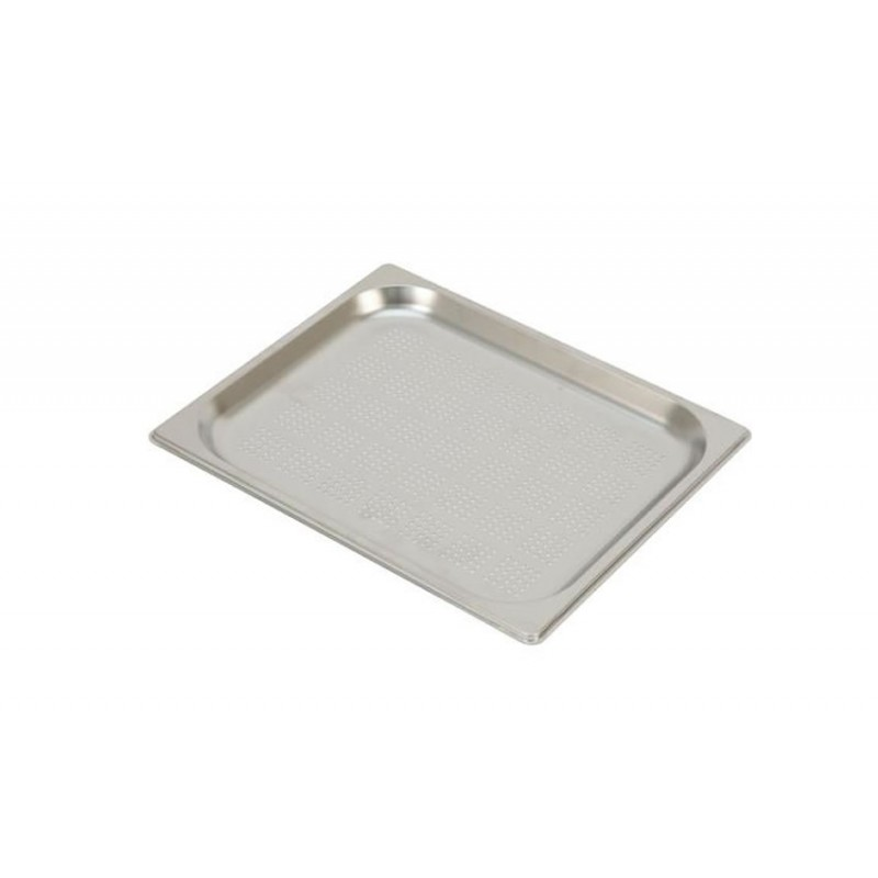 Bac inox GN 1/2 standard perforés RONDA hauteur 20 mm
