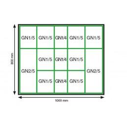 Lot de plats rectangulaires 1000 x 800 plexi normé GN