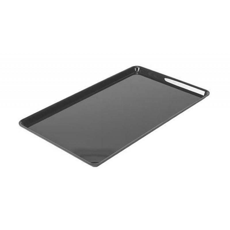 Plat rectangulaire plexi 530 x 325 x 17 mm normé GN1/1 couleur noir