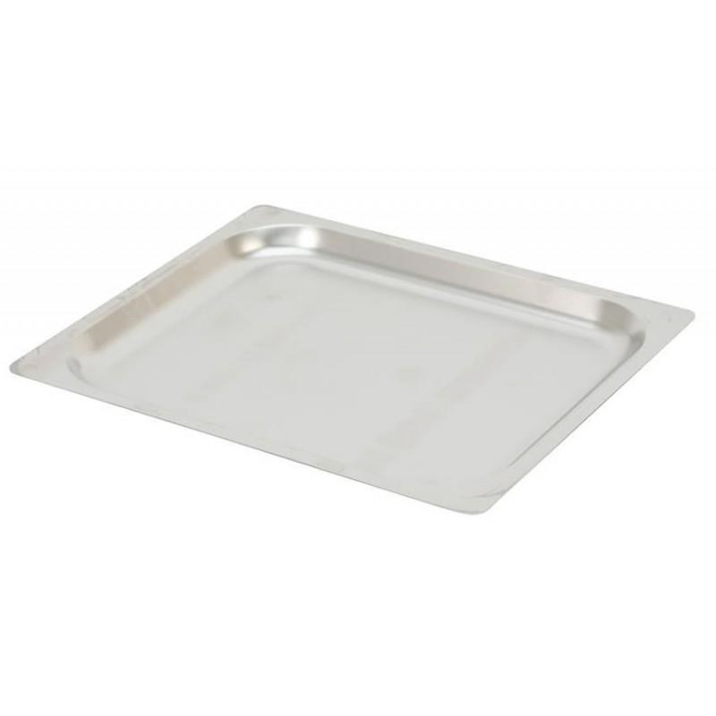 Plaques inox pleines GN1/2 à bords plats pour four à convection hauteur 20 mm