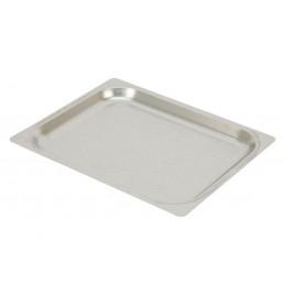 Plaques inox perforées GN1/2 à bords plats pour four à convection hauteur 20 mm