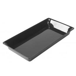 Plat rectangulaire plexi 265 x 487 x 50 mm normé GN4/7 noir