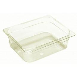 Bac plastique GN1/2 gastronorme fond semi-transparent