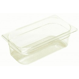 Bac plastique GN1/3 gastronorme transparent