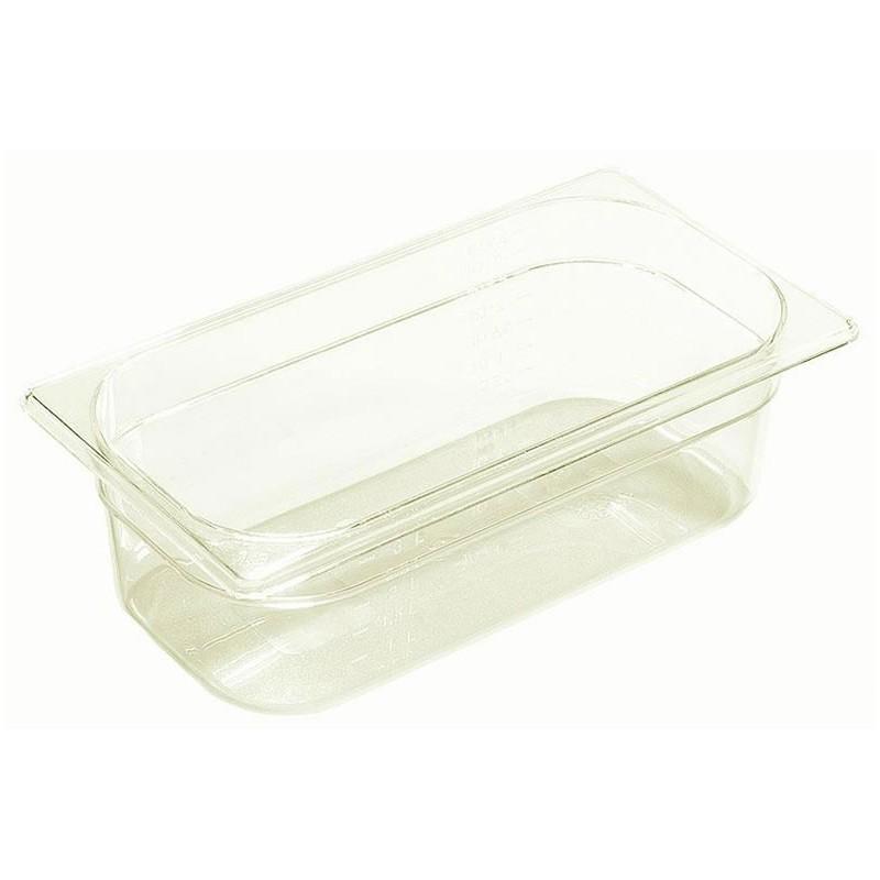 Bac plastique GN1/3 gastronorme transparent