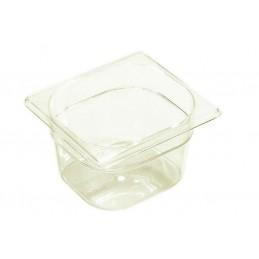 Bac plastique GN1/6 gastronorme transparent