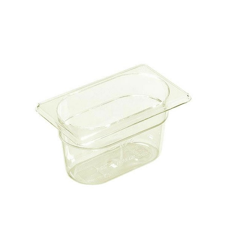 Bac plastique GN1/9 gastronorme transparent