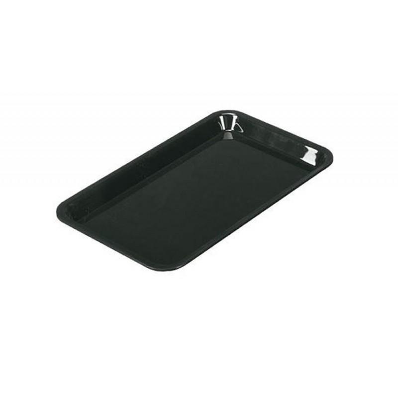Plat rectangulaire plexi 265 x 162 x 17 mm normé GN1/4 couleur noir