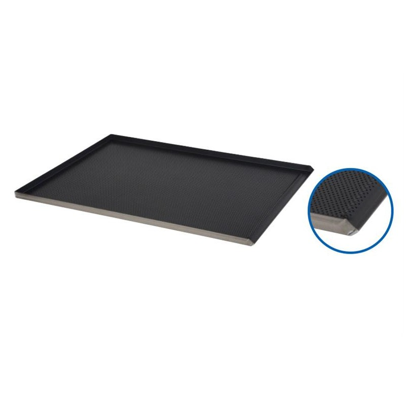Plaque de four 800x600 perforée 3 bords aluminium