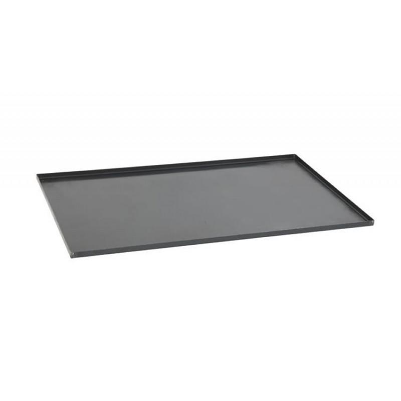Plaque de four tôle 530x325x10 mm