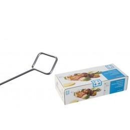 Pique à brochette inox ronde diamètre 2 mm : boite de 200 brochettes