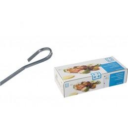 Pique à brochette inox plate 3 mm en carton de 200 pièces.