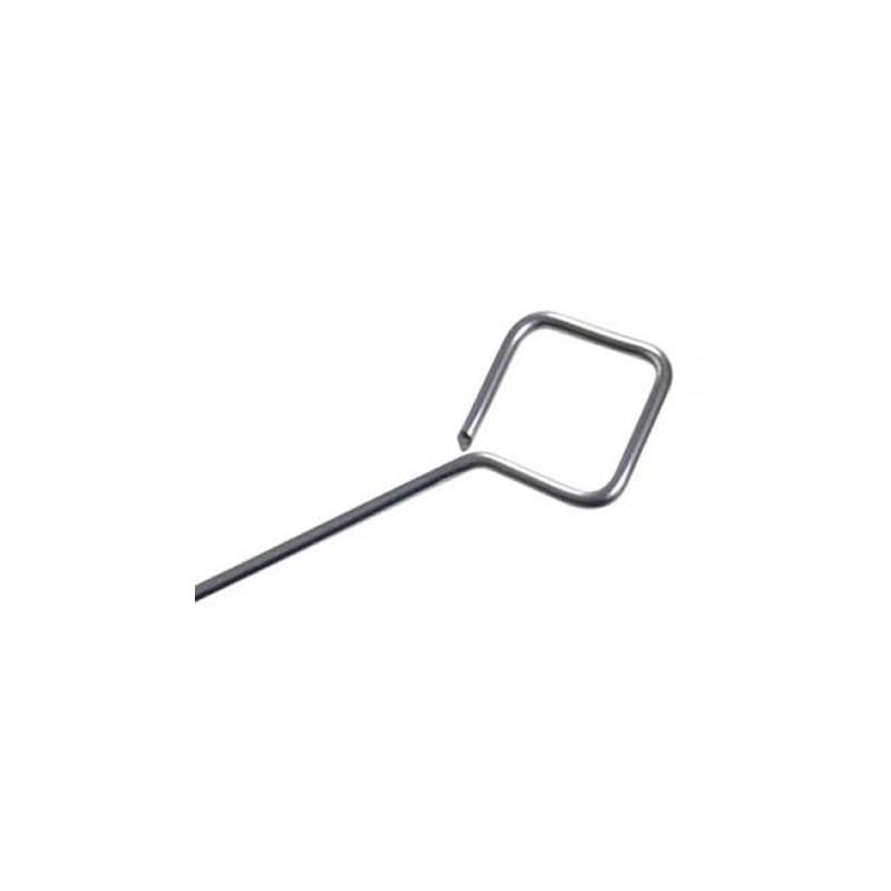 Pique à brochette inox ronde diamètre 2 mm