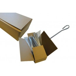 400 Piques à brochette inox plate 3 mm en carton
