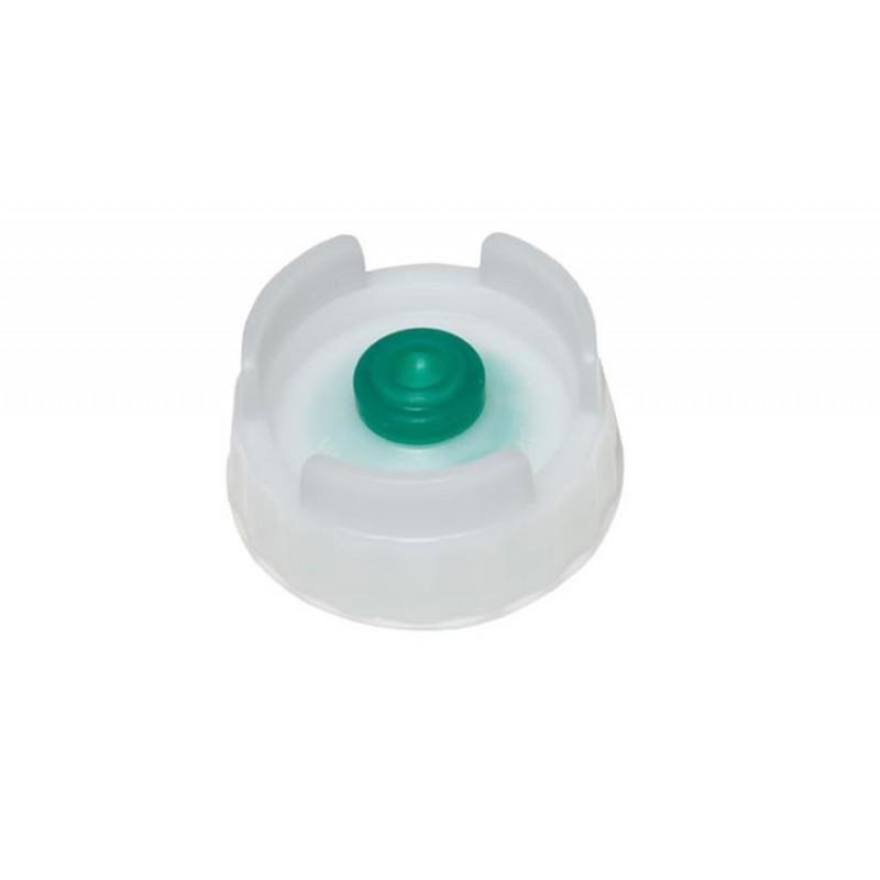 Chapeau de bouteille avec valve verte silicone pour sauces moyennement épaisse