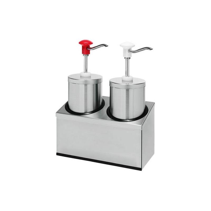 Pompe à sauce double standard 2.25 litres en inox