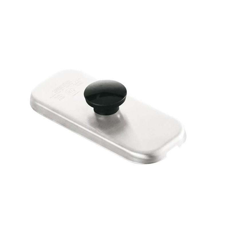 Couvercle inox 2/3 avec bouton pour bacs à sauces.