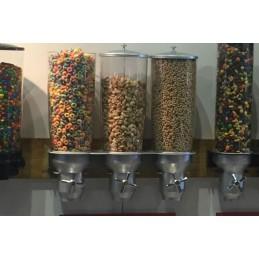 Distributeur de céréales 3 fois 5 litres montage mural : exemple