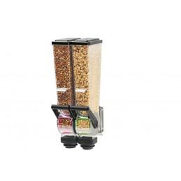 Distributeur double d'aliments secs 2 litres pour magasin