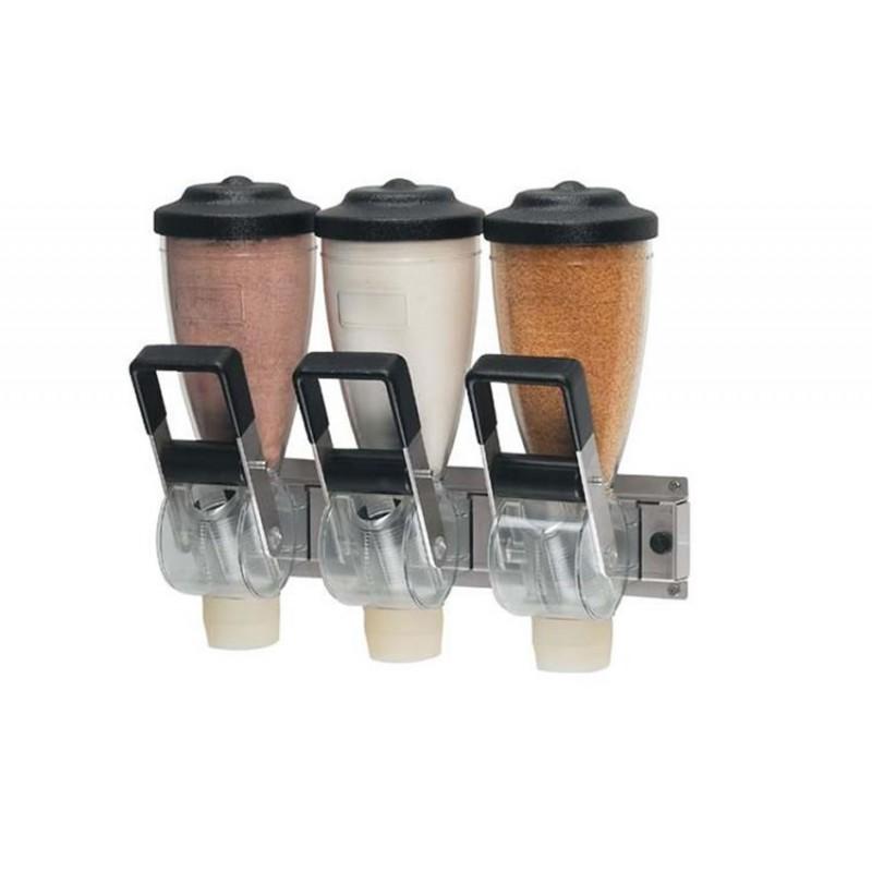 Distributeur d'aliments triple capacité 3x1 litre