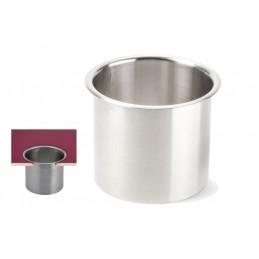 Joint vide-ordures large en inox à encastrer diamètre 170 mm.
