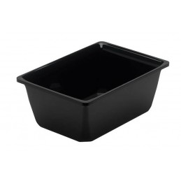 Saladier rectangulaire en plexi noir 1 litre pour préparation