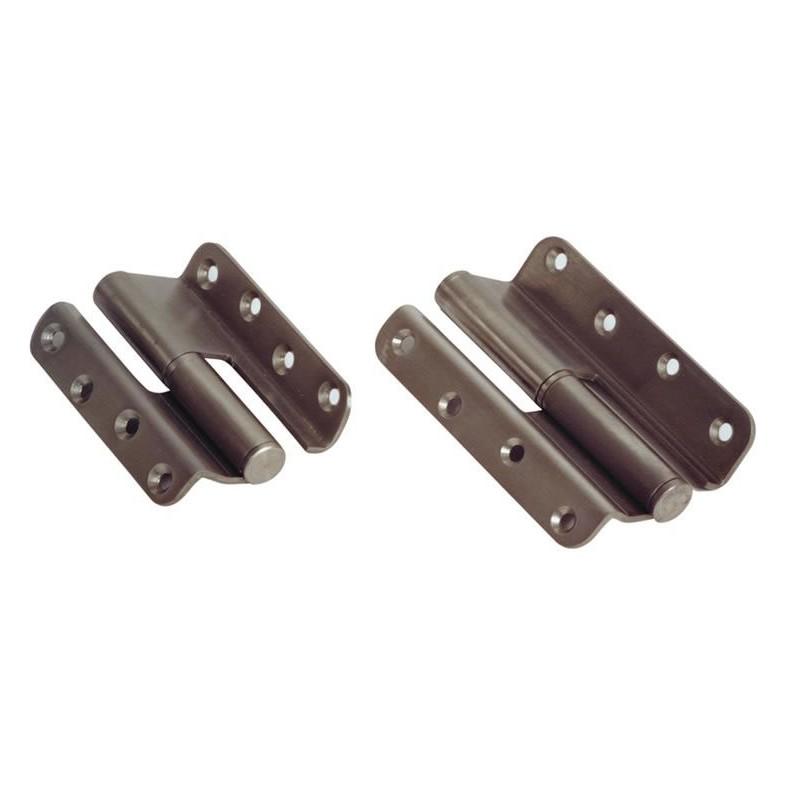 Paumelle inox pliée gauche et droite épaisseur 3 mm.