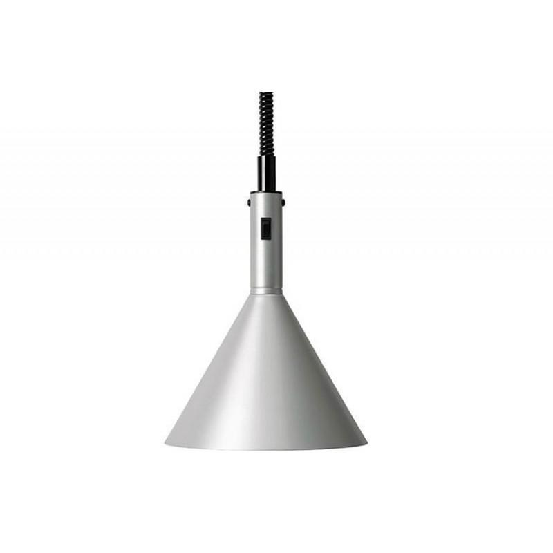 Lampe chauffante rétro hauteur 360 mm couleur aluminium