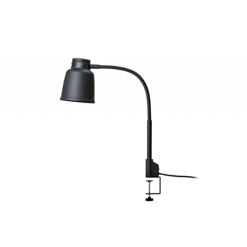 Lampe chauffante autonome avec pince 250 W noir.
