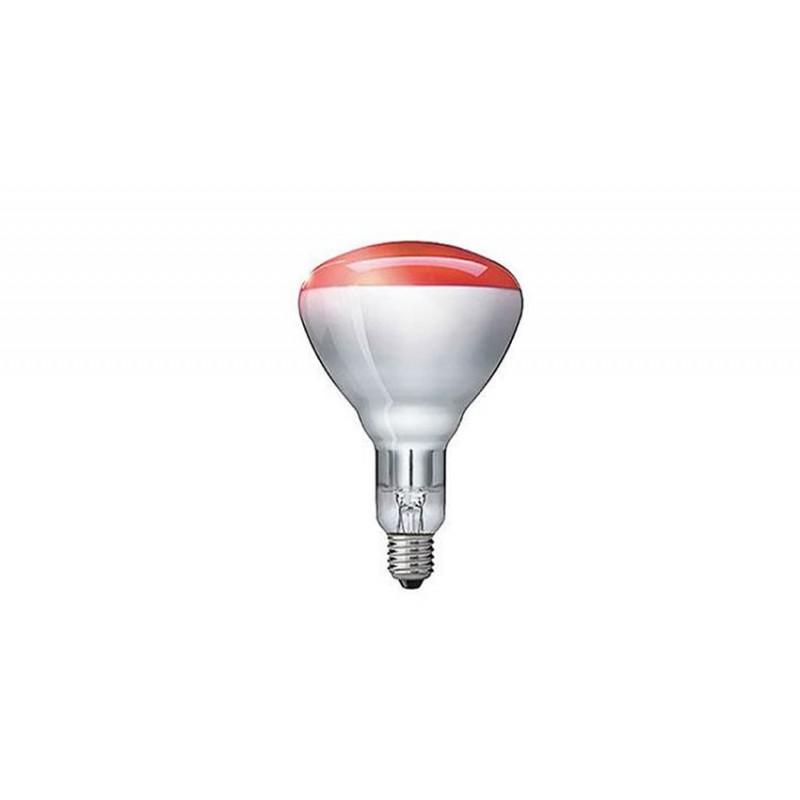 Lampe incandescente rouge dédiée au chauffage infrarouge.