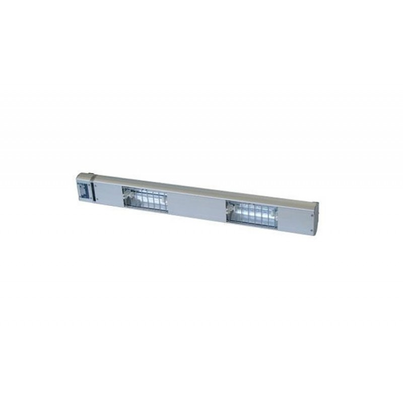 Lampe chauffante à quartz 900 mm - 2 lampes 750 W