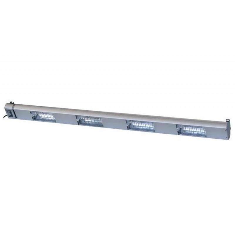 Lampe chauffante à quartz 1500 mm - 4 lampes 1400 W