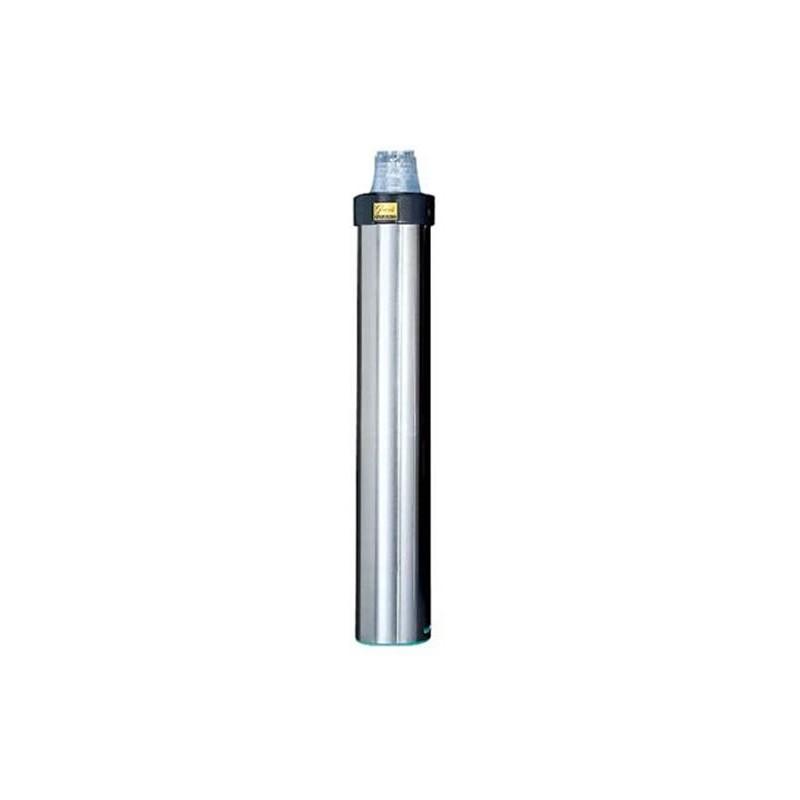 Distributeur de gobelets inox horizontal de 56 à 81 mm.