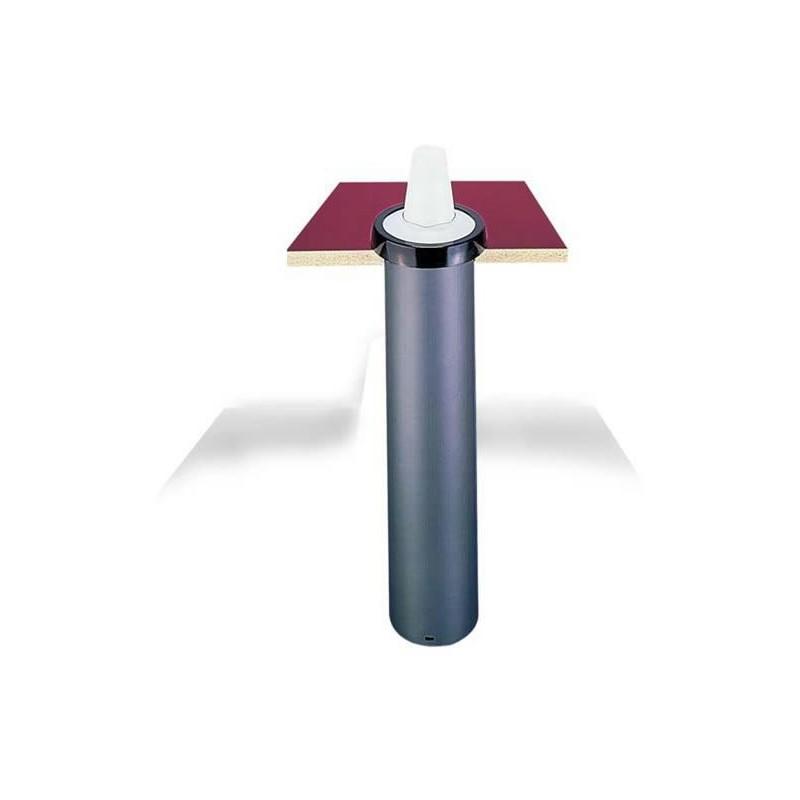 Distributeur à encastrer finition métal pour gobelet 73-121 mm.