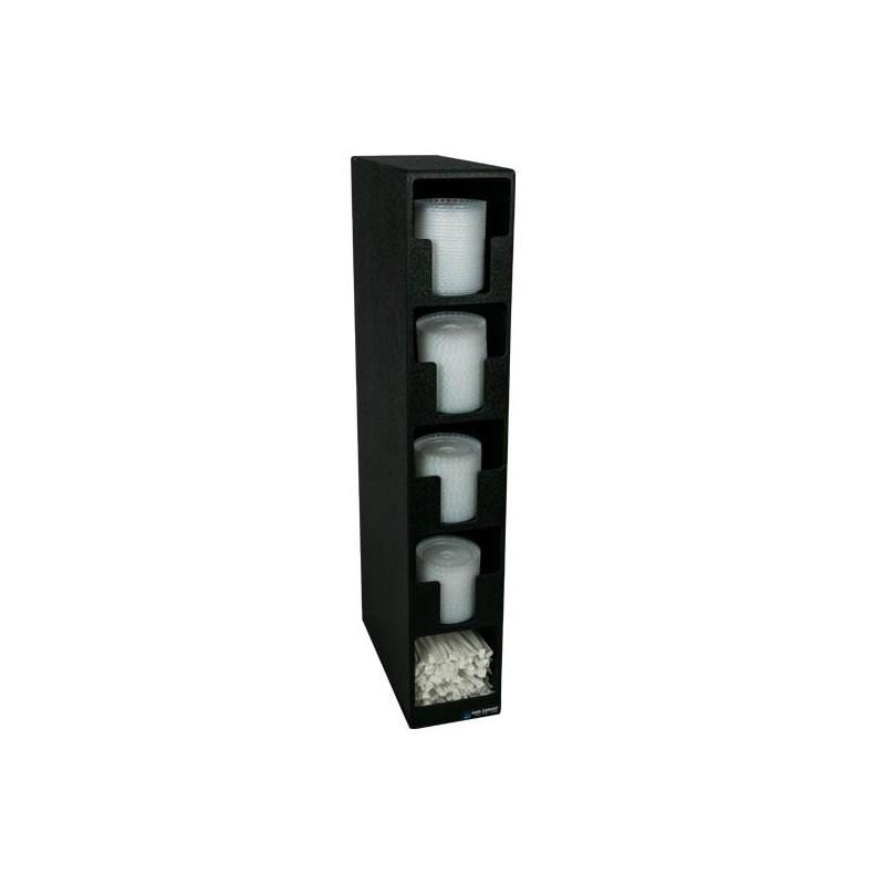 Distributeur pour couvercles de gobelets à 4 compartiments