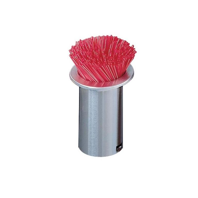 Distributeur de pailles à encastrer en inox