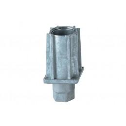 Vérins réglables pour tubes carrés de 35 mm zamac naturel.
