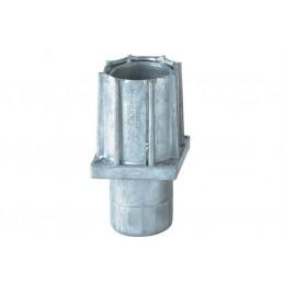 Vérins réglables pour tubes carrés de 40 mm en zamac.