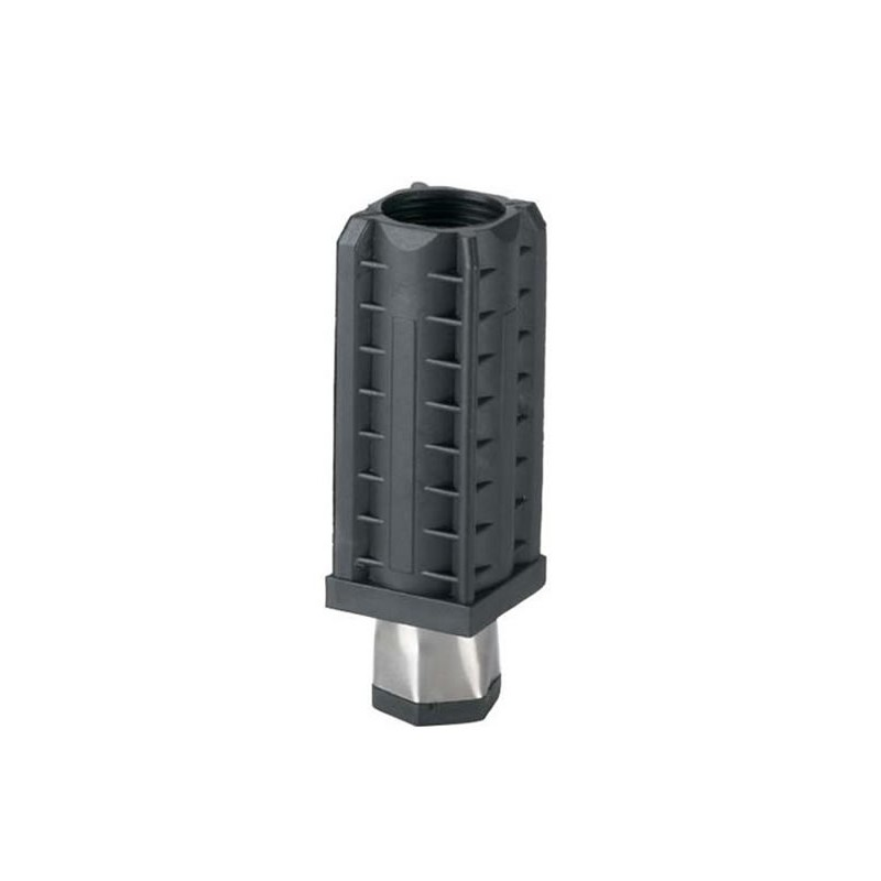 Vérin pour tube carré de 40 x 40 mm épaisseur 1 mm embout inox.