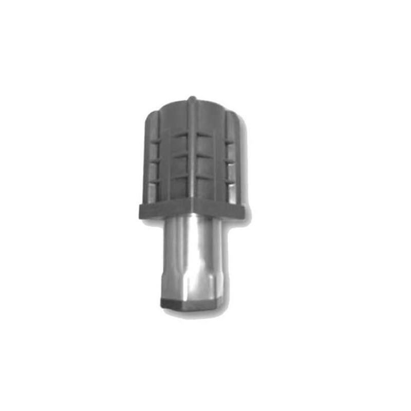 Vérin 60 mm pour tube carré de 40 x 40 mm épaisseur 1 mm embout inox.