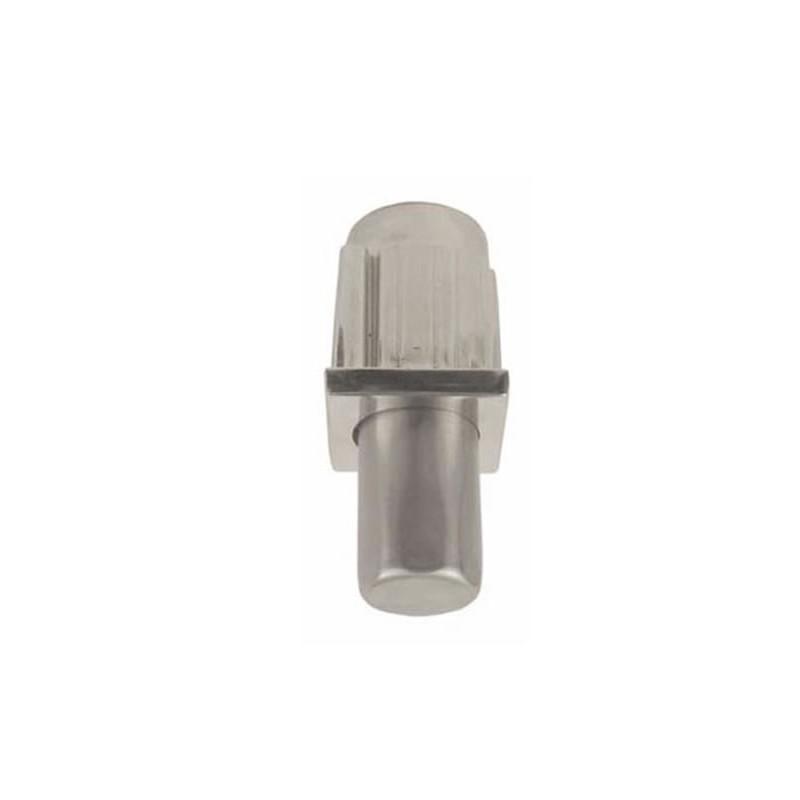 Vérin zamac pour tube carré de 40 x 40 mm partie réglable en inox.