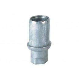 Vérins réglable pour tubes ronds de 38 mm de diamètre en zamac naturel.