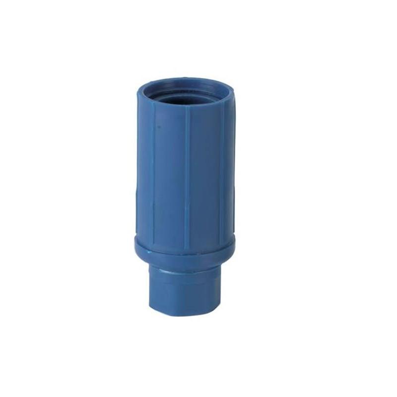 Vérins réglables pour tubes ronds de 45 mm de diamètre bleu.