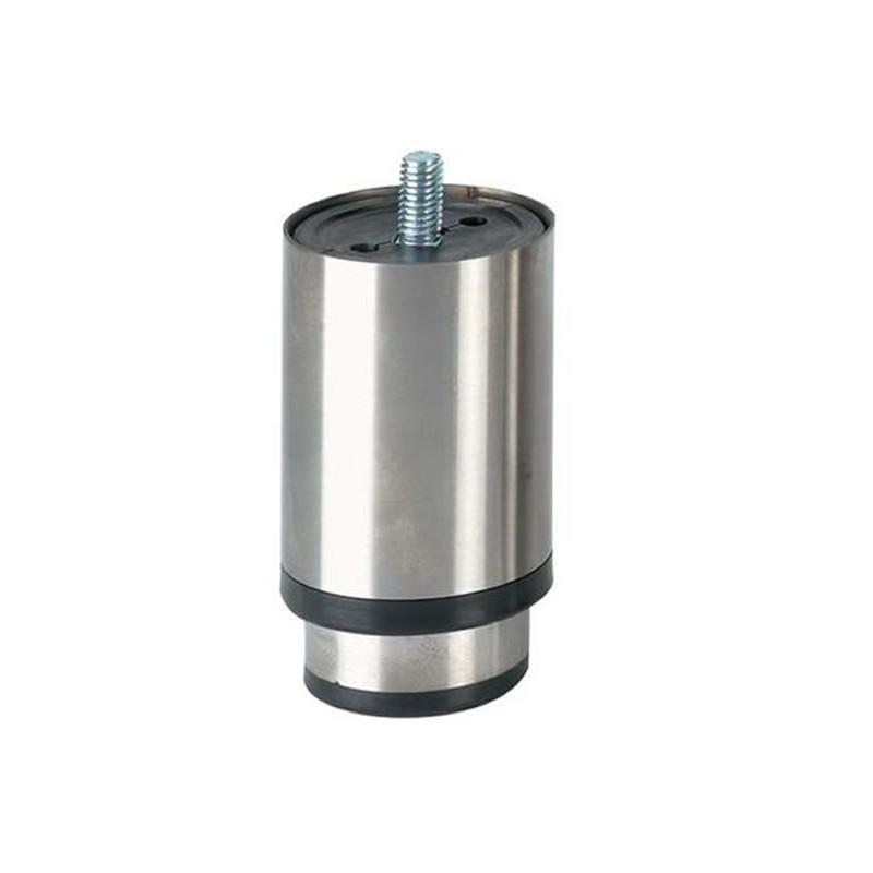 Pieds réglables en inox ECO LINE charge 780 kg 90 mm - M10- semelle synthétique noire.