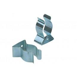 Clips pour plinthe en acier galvanisé.