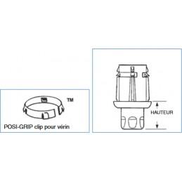 Clips pour vérins réglables ronds : dimensions
