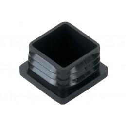 Obturateurs carrés en polyamide noir.